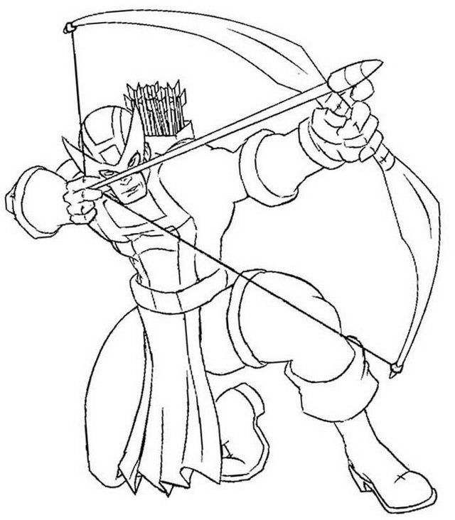 Hawkeye Marvel Coloring Page Coloring Sheets