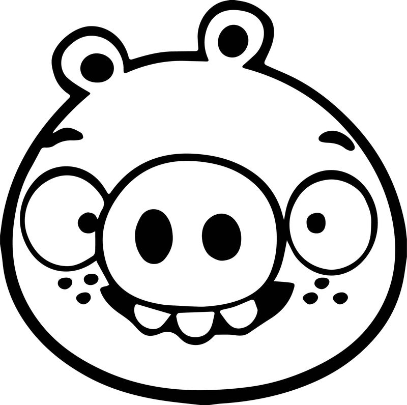 Hd Anry Bird Pig Coloring Page