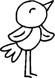 He bird coloring page
