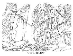 He is risen christian bible coloring pages