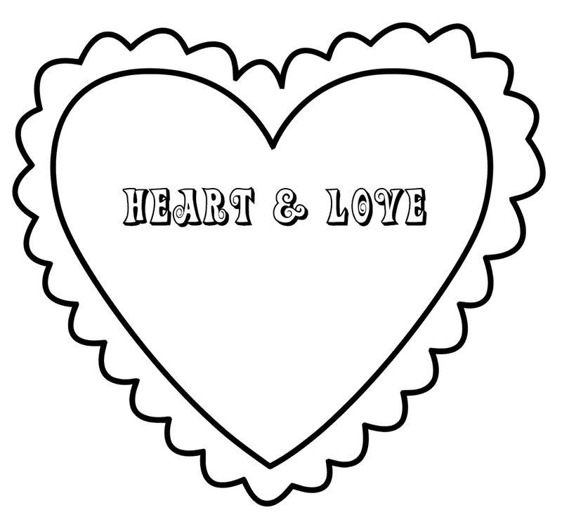 Heart Coloring Pages For Girls