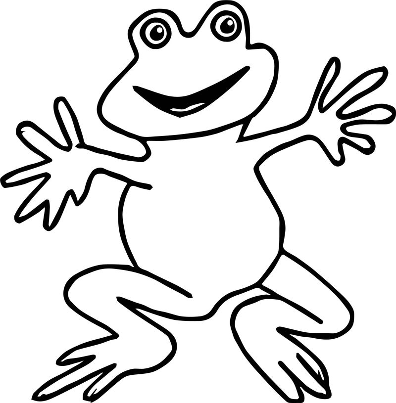Hello Frog Coloring Page