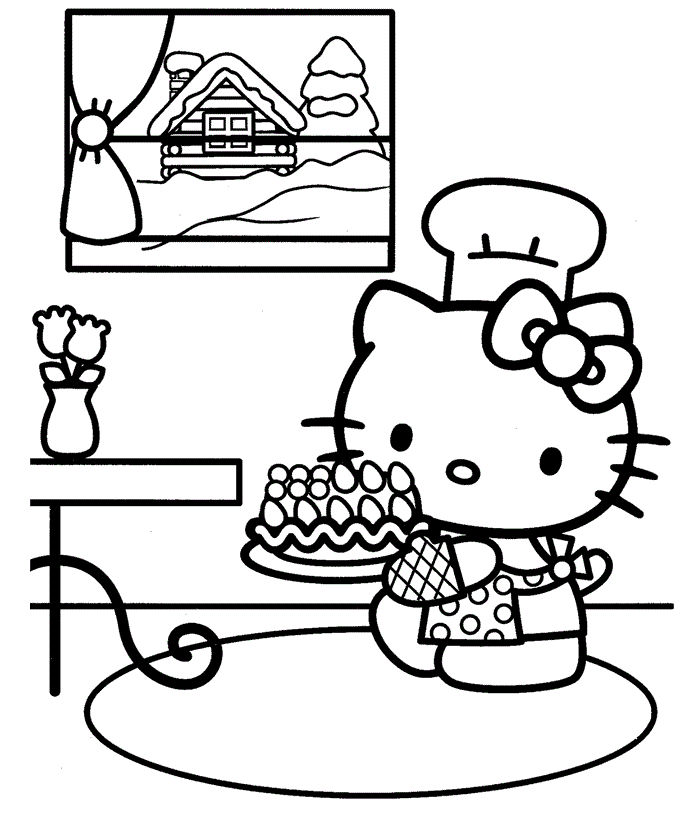 Hello Kitty Coloring Pages Happy Birthday 1 - Coloring Sheets