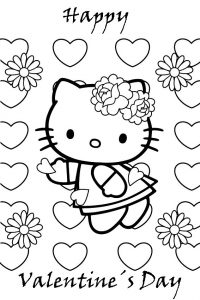Hello kitty printable valentines day card