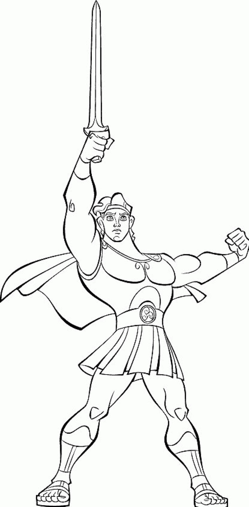 Hercules Coloring Pages For Kids Coloring Sheets