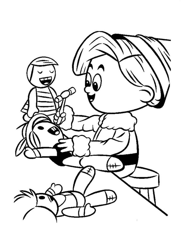 Hermey The Elf Rudolph Coloring Pages