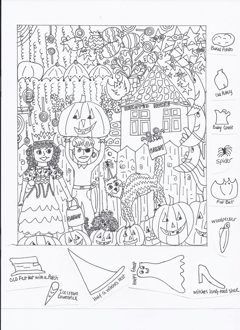 Hidden Picture Worksheet Page