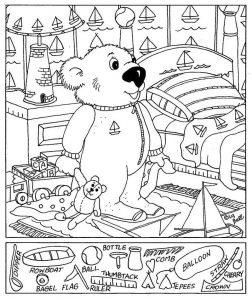 Hidden pictures worksheet bear