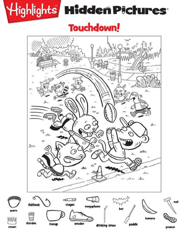 Hidden Pictures Worksheet To Print