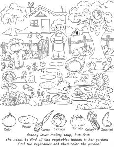 Hidden pictures worksheets granny