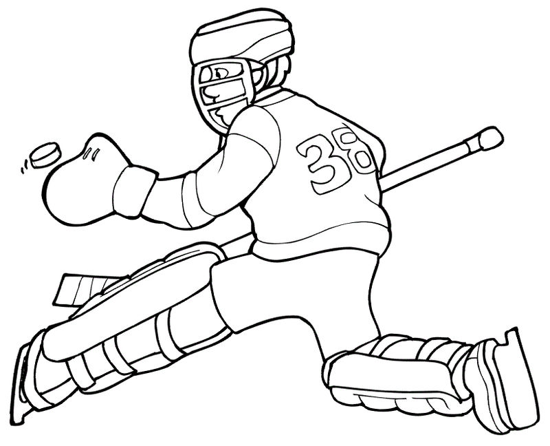 Hockey Coloring Pages For Kids - Coloring Sheets
