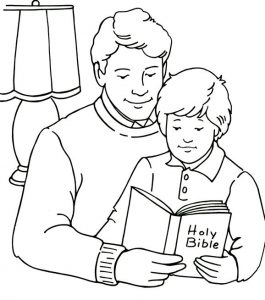 Holy bible christian coloring pages