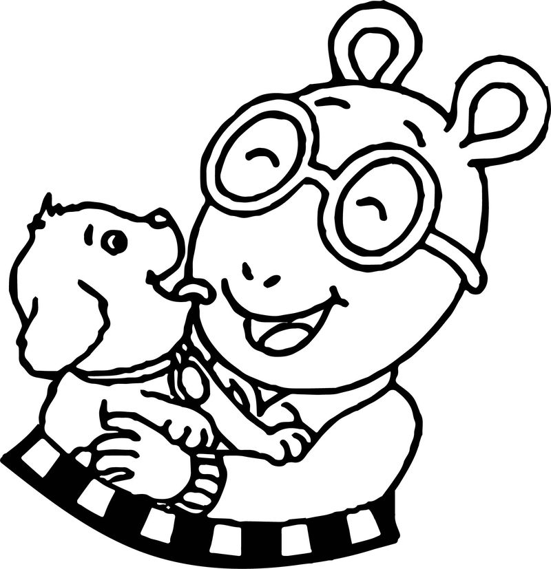 Home Arthur And Dog Coloring Page