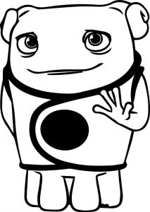 Home oh cartoon coloring page 01