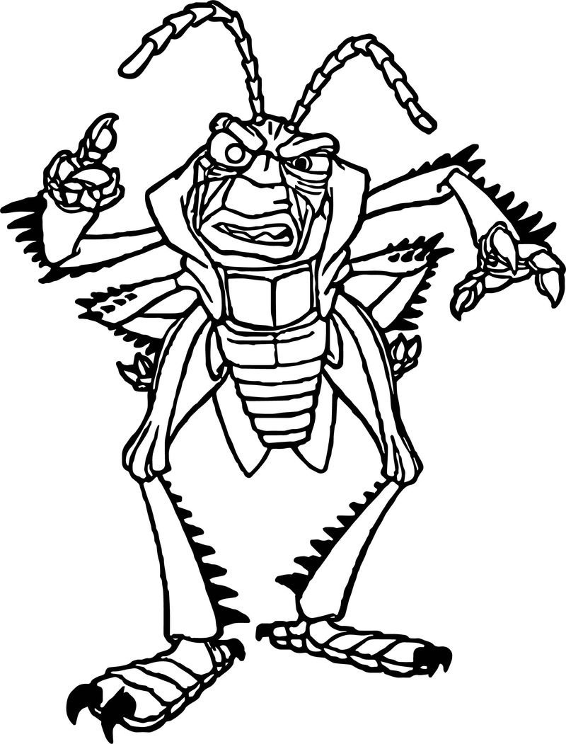 Hopper Angry Bugs Coloring Page