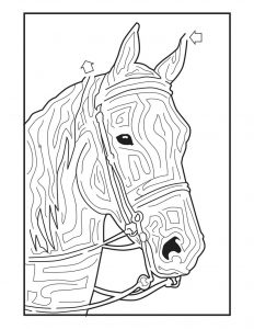 Horse activities for kids maze
