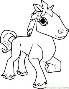 Horse animal jam coloring pages