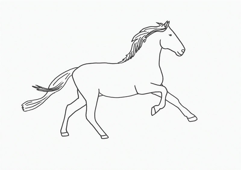 Horse Color Sheets Simple