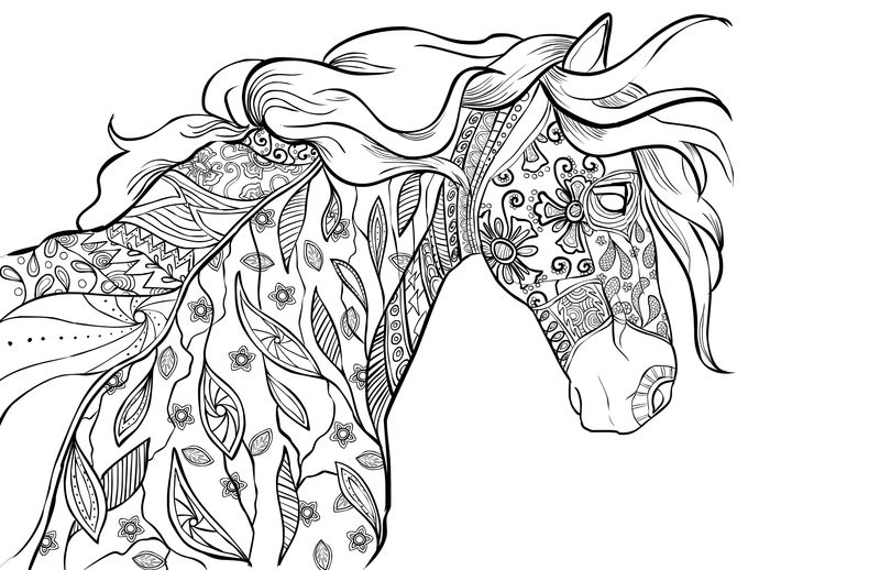 Horse Page For Adults To Color