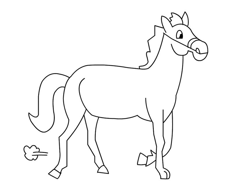Horse Pictures For Kids Coloring