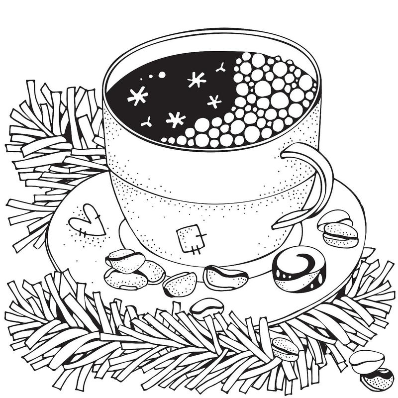Hot Cocoa In Winter Coloring Page