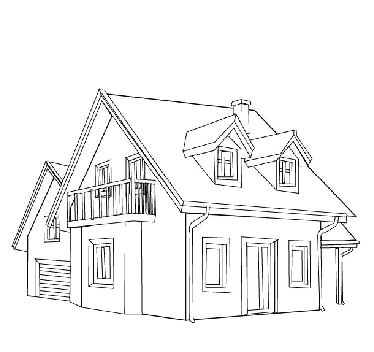 House Coloring Pages For Kids 001