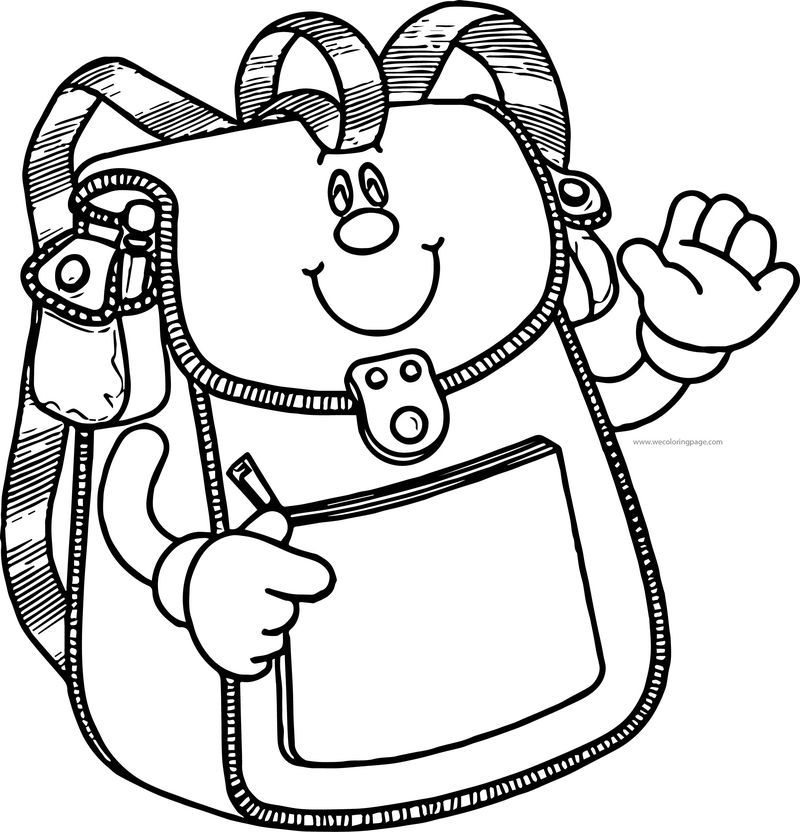How School Bag Coloring Page