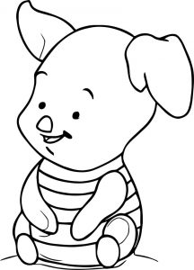 How to draw baby piglet coloring page