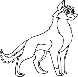 How to draw balto wolf coloring page