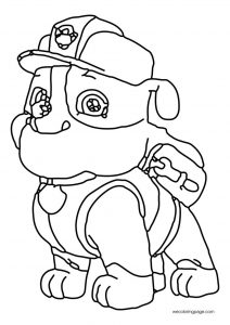 Hq worker dog paw patrol coloring page
