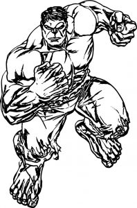 Hulk avengers coloring page