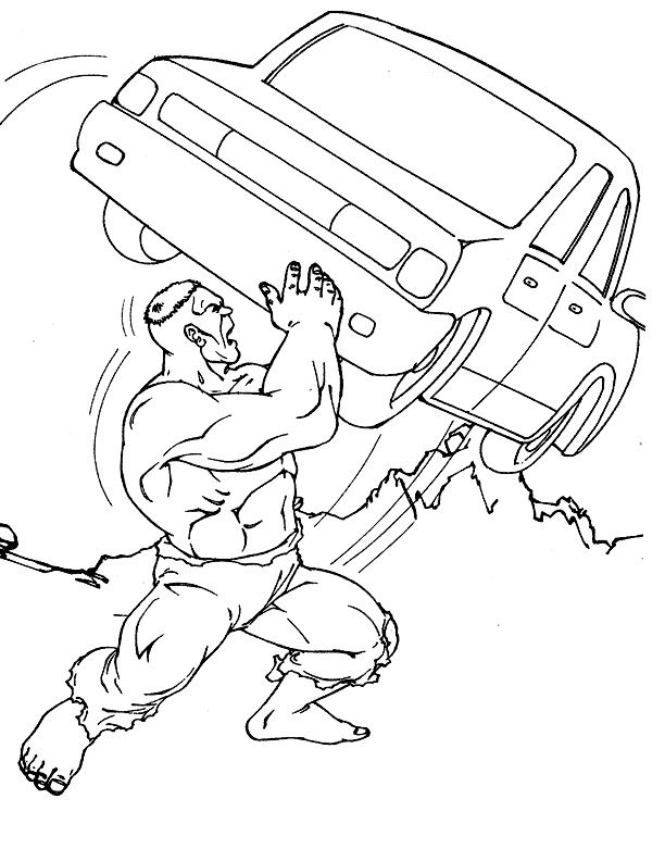 Hulk Coloring Pages For Kids
