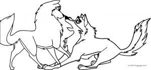 Humphrey and kate balto style wolf coloring page