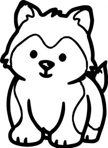 Husky puppy dog puppy coloring page