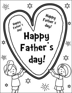 I love dad father day coloring pages 001