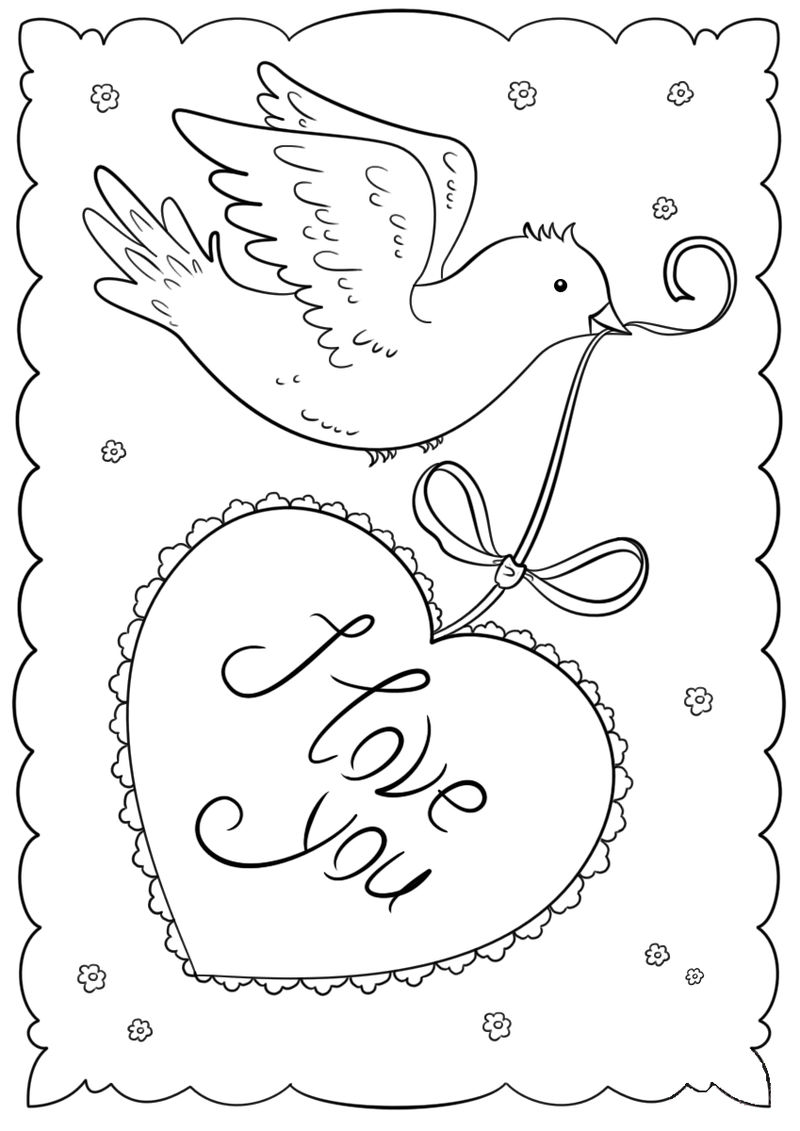 I Love You Printable Valentines Day Cards
