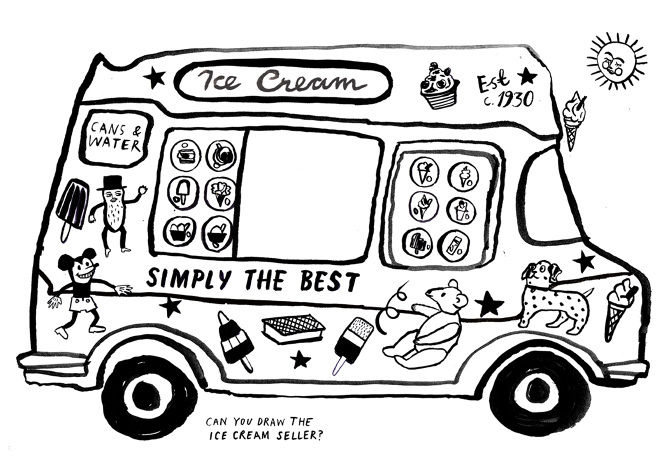 Ice Cream Truck Coloring Pages 001