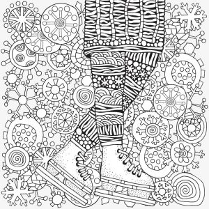 Ice skating in winter coloring page for adults