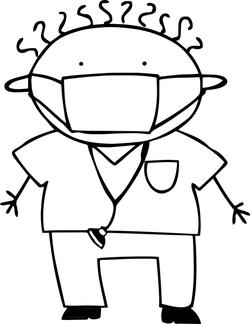 Ill Child Children Kid Coloring Page