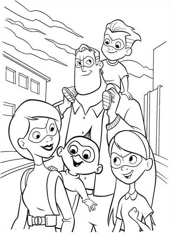 Incredibles Coloring Pages Incredibles Family
