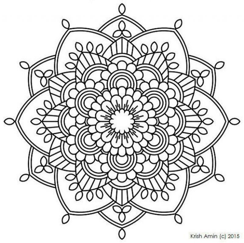 India Flower Mandala Coloring Pages