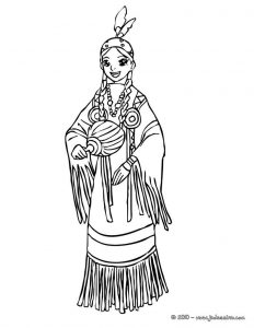 Indian princess coloring pages