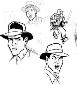 Indiana jones coloring pages characters