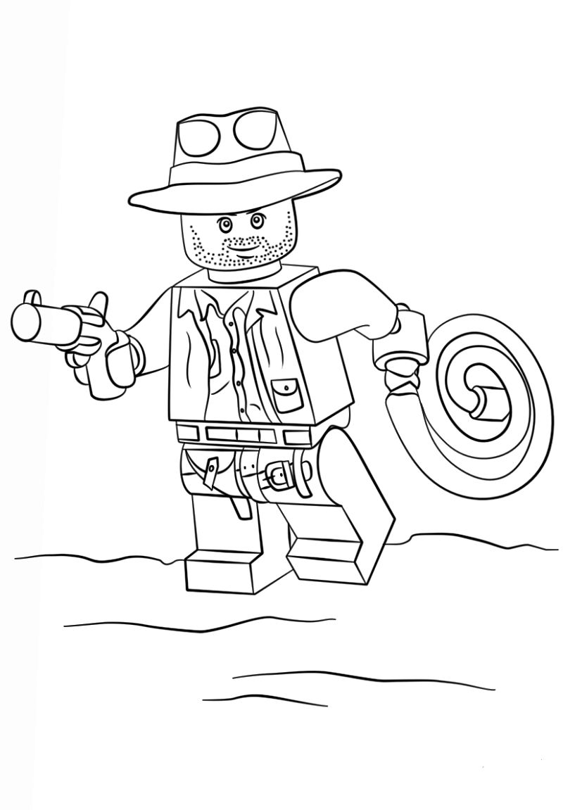 Indiana Jones Coloring Pages Lego