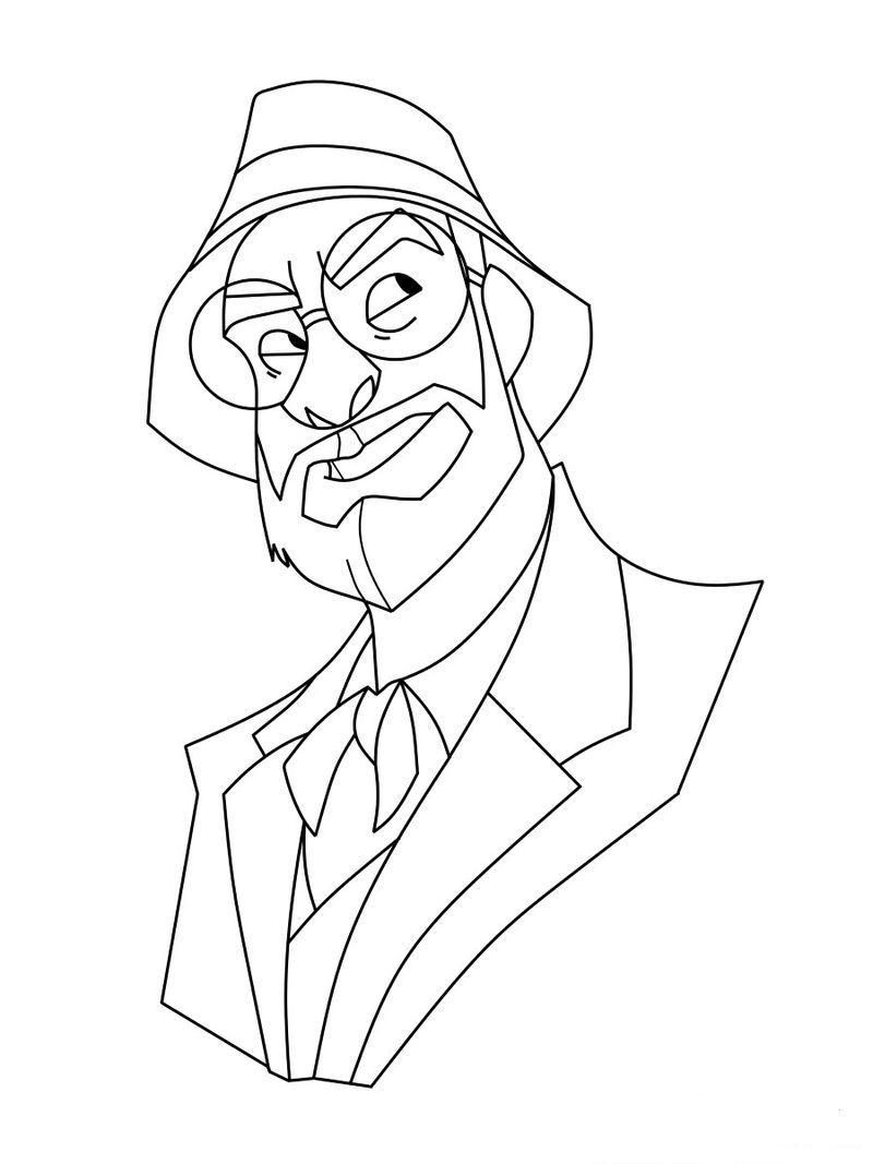Indiana Jones Coloring Pages Template