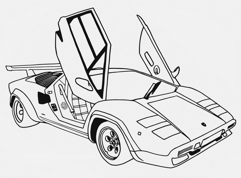 Innovation Speed Race Cars Coloring Pages