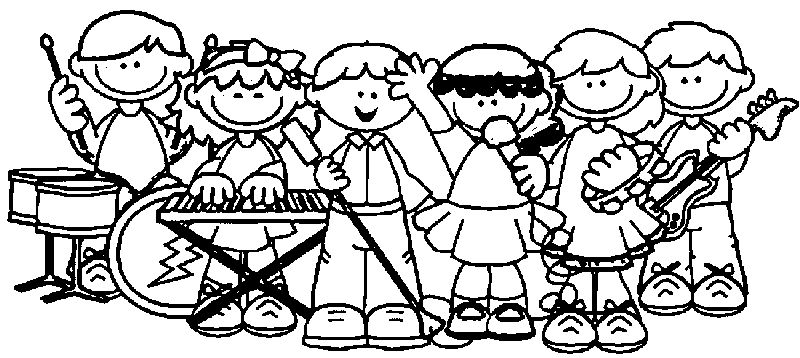 Instrument Kids Kids Coloring Page