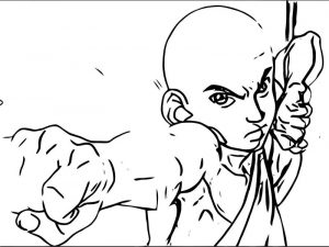 Into the inferno aang avatar aang coloring page