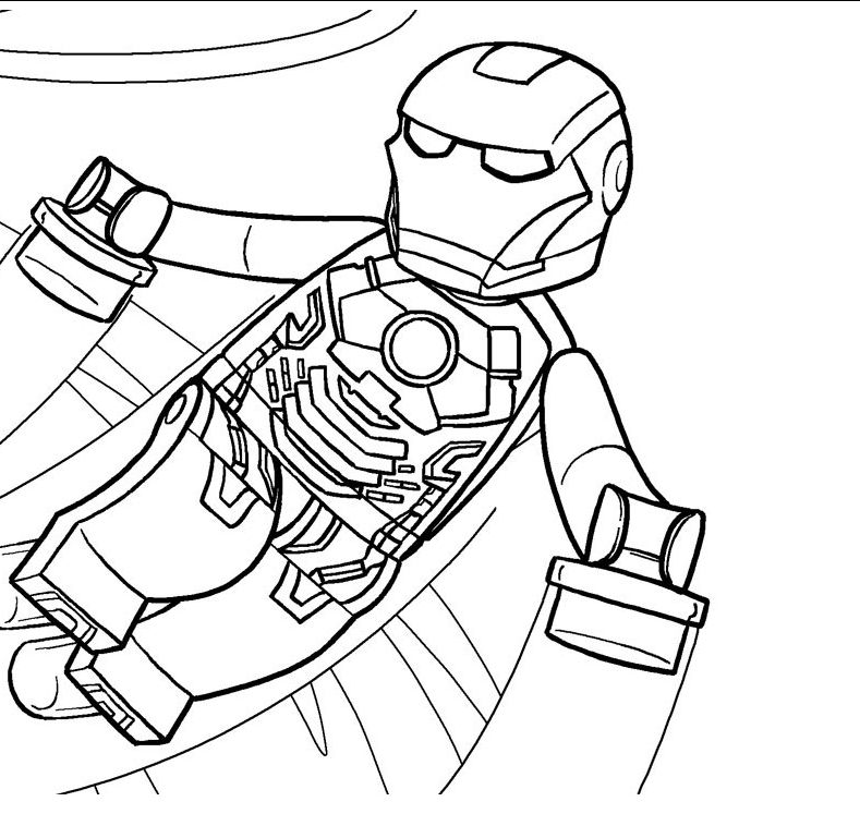 Iron Man Lego Avengers Coloring Pages - Coloring Sheets