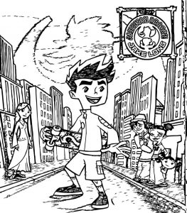 Italiano season street american dragon jake long coloring page